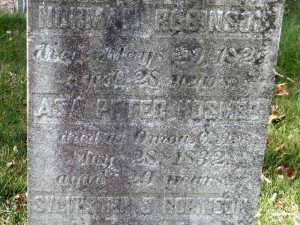 Grave of Peter Hosmer, died May 28, 1832