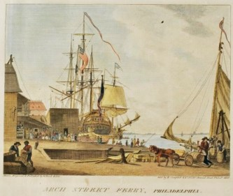 2 william russell birch (arch street ferry, philadelphia. city of philadelphia in the state of pennsylvania, north america, as it appeared in the year 1800