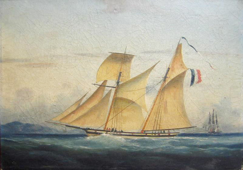 French privateer schooner