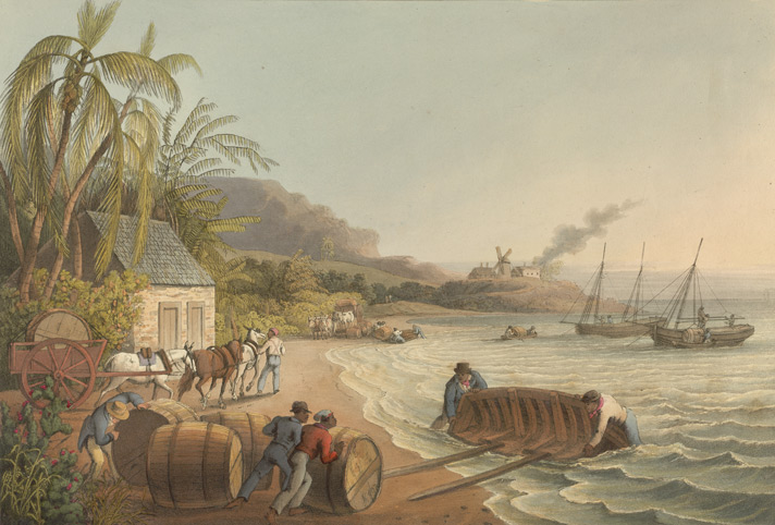 Sugar Antigua seaside 1823, William Clark